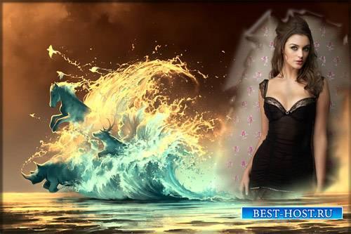 Фоторамка psd - Магия воды
