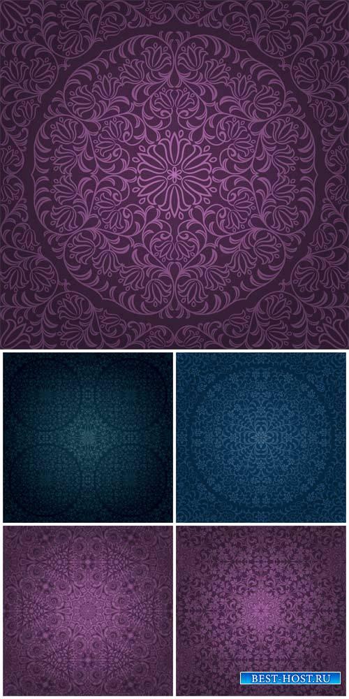 Векторные фоны с узорами / Vector backgrounds with patterns # 10