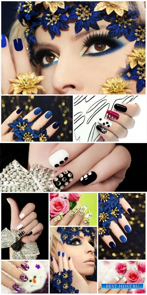 Маникюр, стильная и модная женщина / Manicure, stylish and fashionable woman - Stock Photo