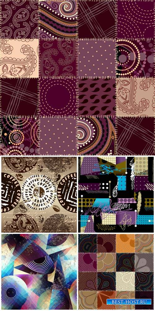 Векторные текстуры / Vector textures, backgrounds abstraction
