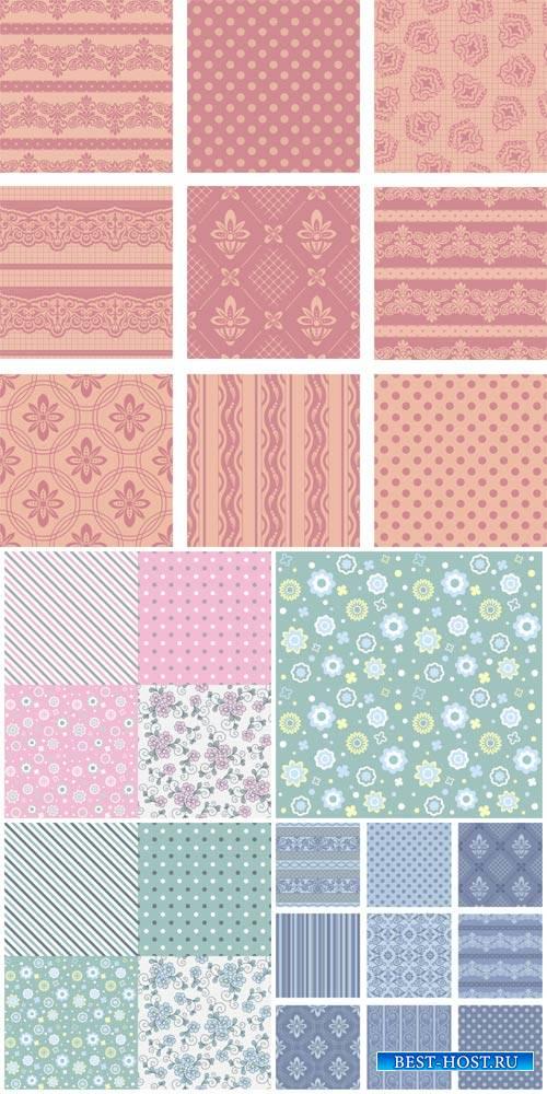 Векторные текстуры # 3 / Vector textures, backgrounds with patterns # 3