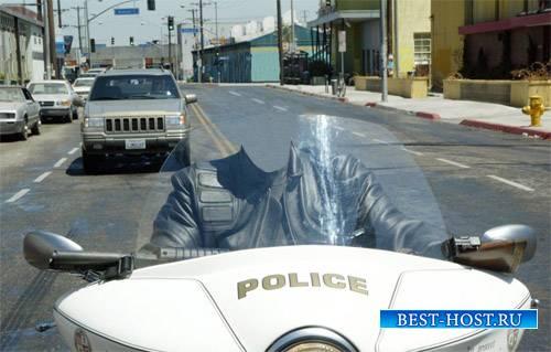 Мужской шаблон - По дорогам на мотоцикле полиции