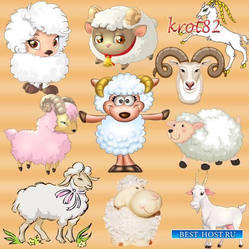 Символ 2015 года на прозрачном фоне – Овца, коза, баран