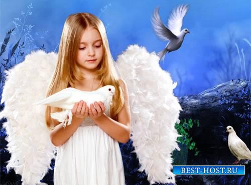 Шаблон  детский - Летите, голуби, летите