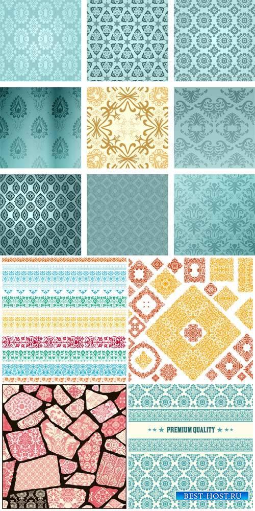 Векторные текстуры, фоны с узорами, дизайнерские элементы / Vector textures