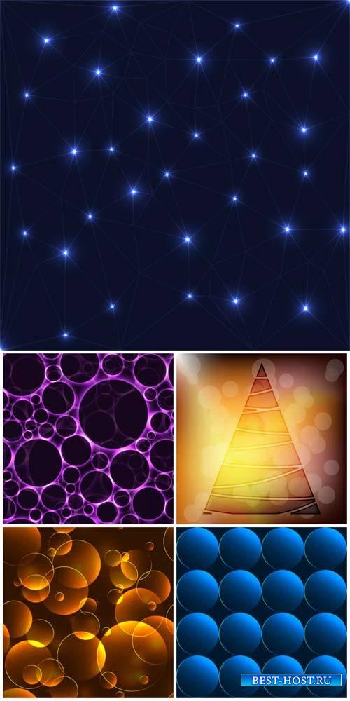 Векторные фоны, абстракция, сияющие фоны / Vector backgrounds, abstract, sh ...
