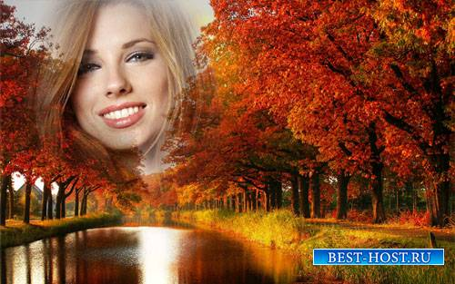 Рамка psd - Пришла разноцветная осень