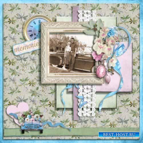 Нежный цветочный скрап-комплект - Встреться со мной в саду