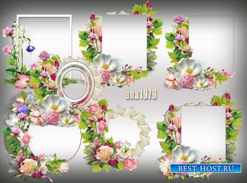Вырезы для рамок - Как прекрасны цветы