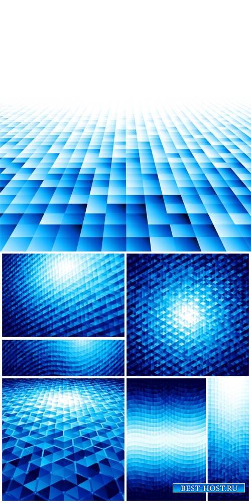 Векторные фоны, синяя абстракция / Vector backgrounds, blue abstraction
