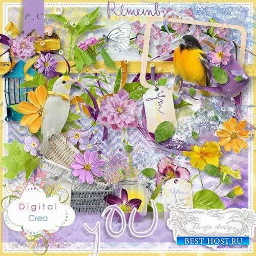 Цветочный скрап-комплект - You