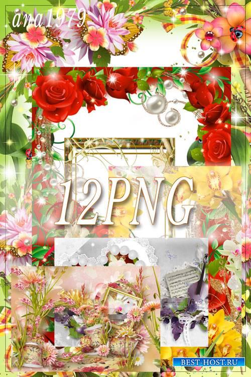 Набор рамок - Цветочный рай