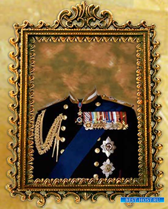 Мужской фотошаблон - Офицер царской армии
