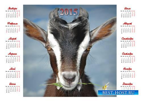 Красивый календарь - Символ года с цветком