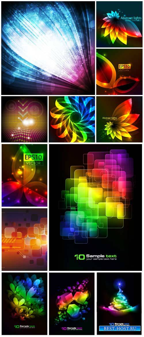 Vector backgrounds with abstraction # 24