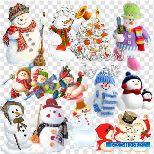 Клипарт в png - Снеговик из детской сказки