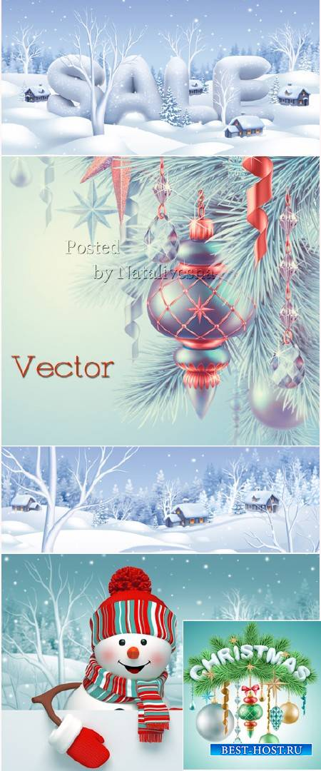 Новогодние фоны для дизайна – Зимняя сказка