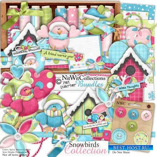 Зимний скрап-комплект - Зимние птицы