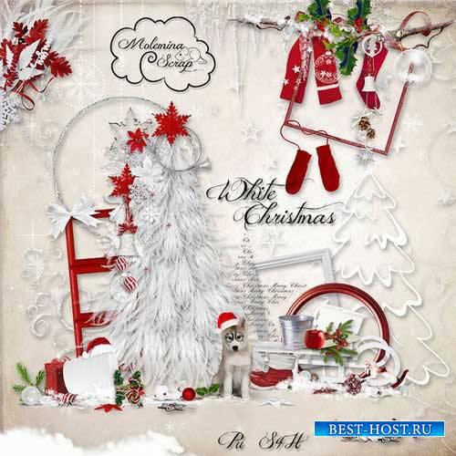Новогодний скрап-комплект - Белоснежное Рождество
