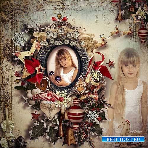 Рождественский скрап-набор в винтажном стиле - Рождество в моем сердце