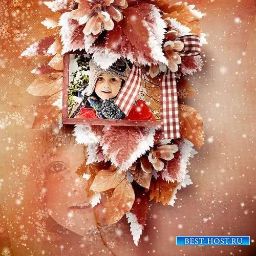 Зимний скрап-комплект - Падающий снег