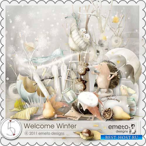Зимний скрап-комплект - Добро пожаловать зима