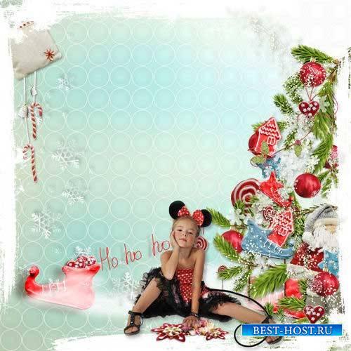Детский новогодний скрап-набор - Рождественские сладости