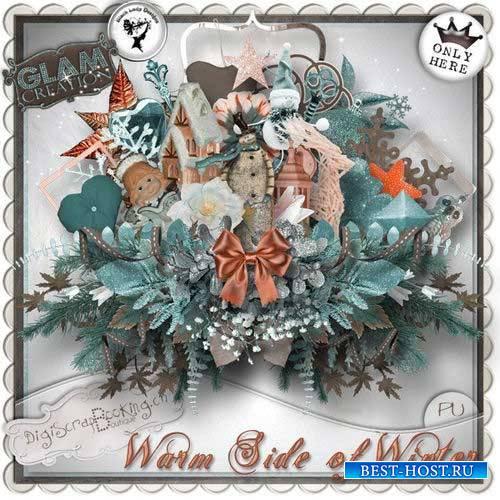 Зимний скрап-комплект - Тёплая зима