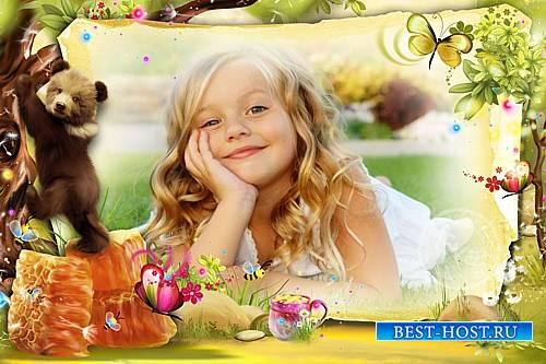 Детская рамка для фото - Люблю мёд