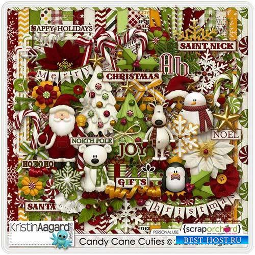 Детский новогодний скрап-комплект - Candy Cane Cuties
