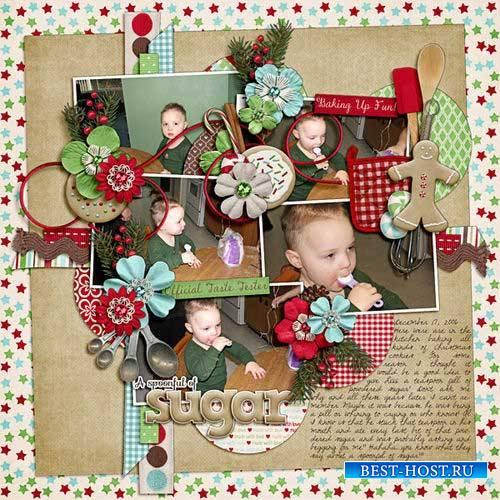 Новогодний скрап-комплект - Домашний праздник