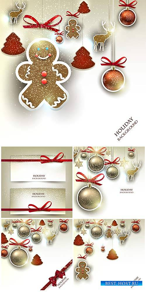 Christmas vector, Christmas tree ornaments