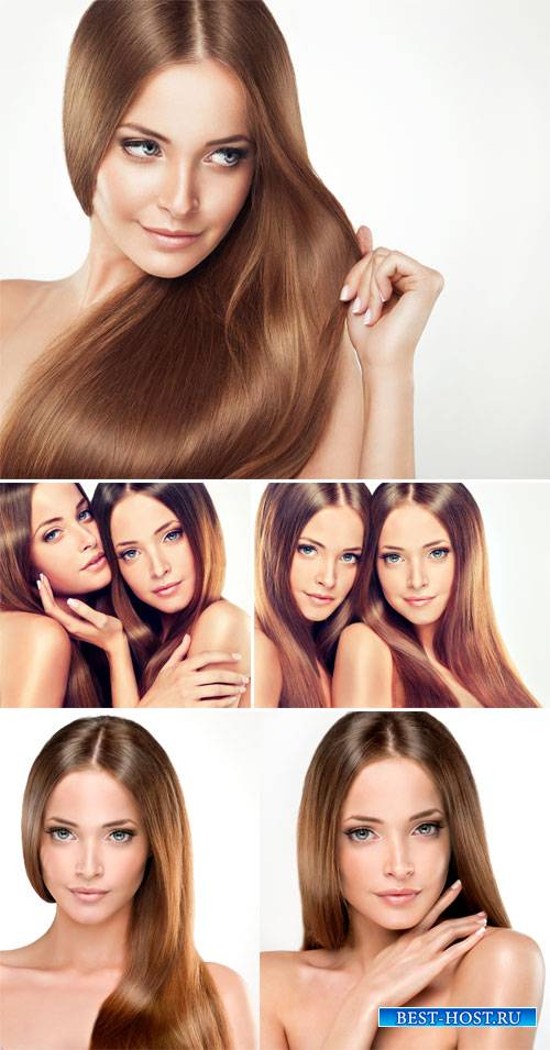 Beautiful woman with long hair - female stock photos