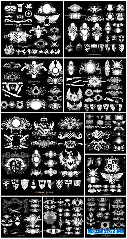 Heraldry elements vector #2
