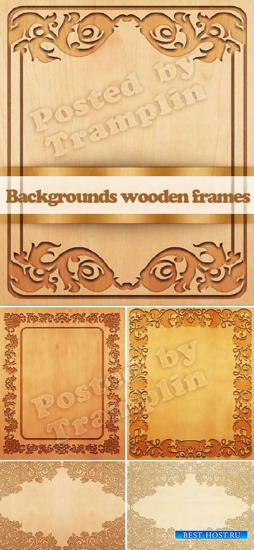 Фоны деревянные резное дерево - Carved wooden