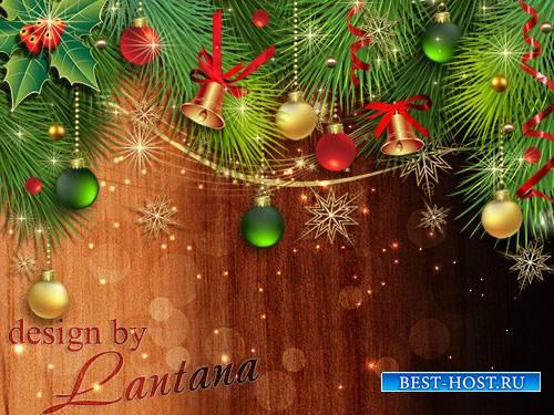 Psd исходник - Новый год к нам мчится 15