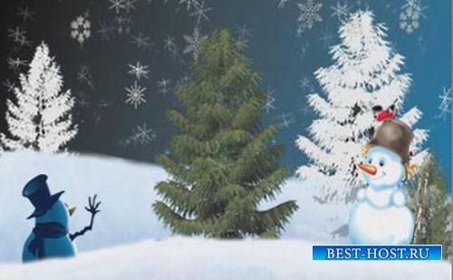 Зимний проект для ProShow Producer - Снеговики