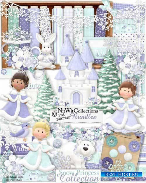 Очаровательный зимний скрап-набор - Снежная принцесса