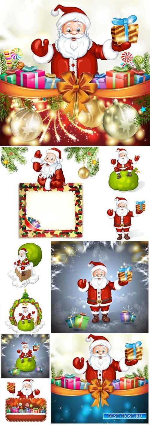 Santa Claus and Christmas, vector