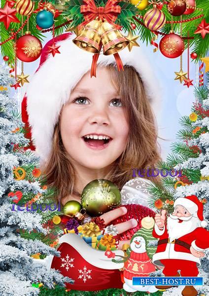 Рамка детская новогодняя