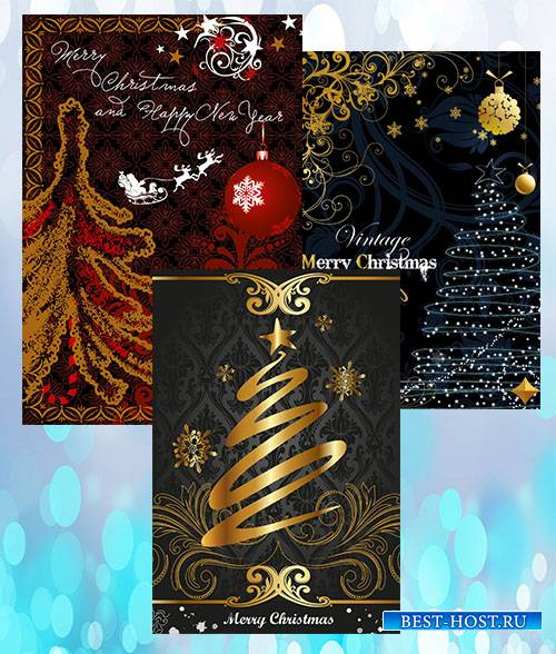 Ornate decorative golden Vintage_Christmas