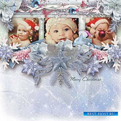 Рождественский скрап-набор - Blue And Pink Xmas