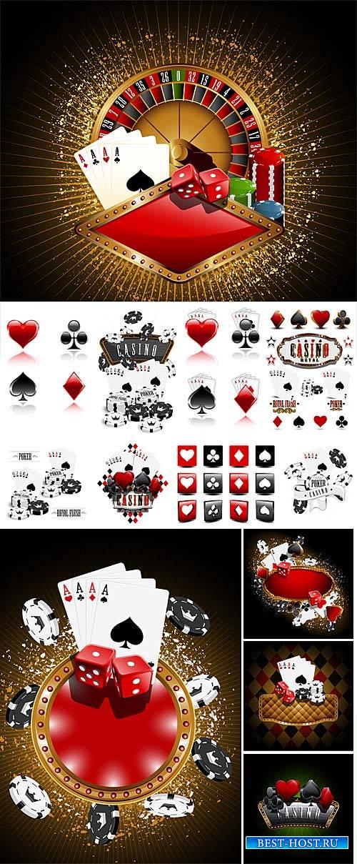 Casino, gambling, card symbols vector
