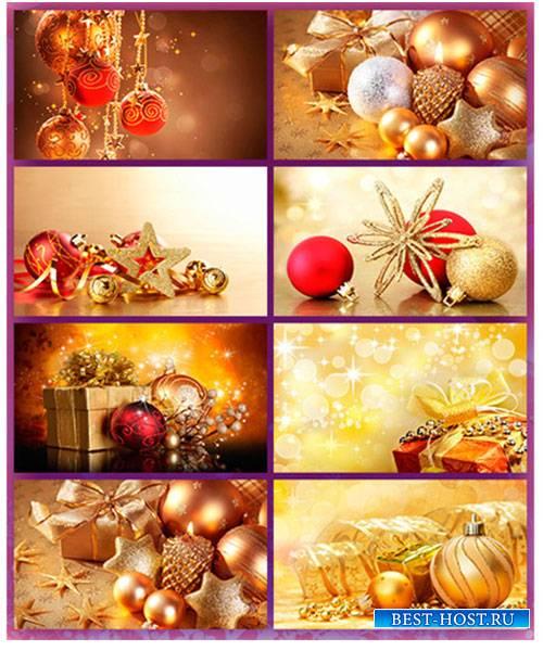 Растровый клипарт - золотые фоны на  Новый год / Gold  backgrounds for the New Year