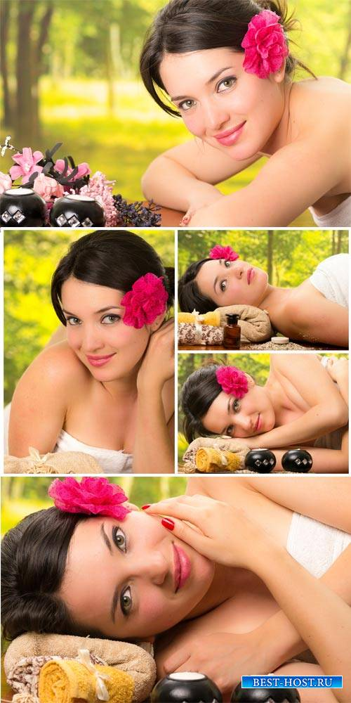 Girl on spa treatments, health and beauty - stock photos