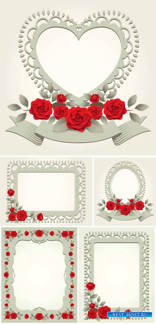 Vectorwith red roses