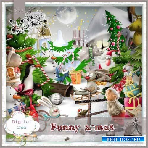 Зимний скрап-комплект - Funny x-mas