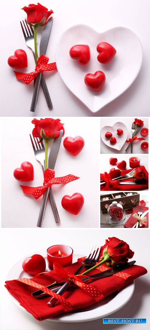 Composition romantic Valentine's Day - stock photos
