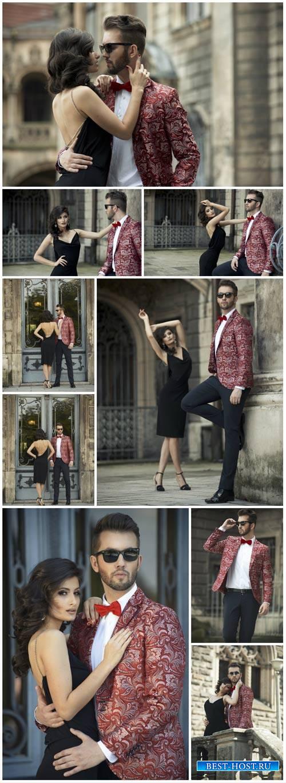 Beautiful fashionable couple - stock photos