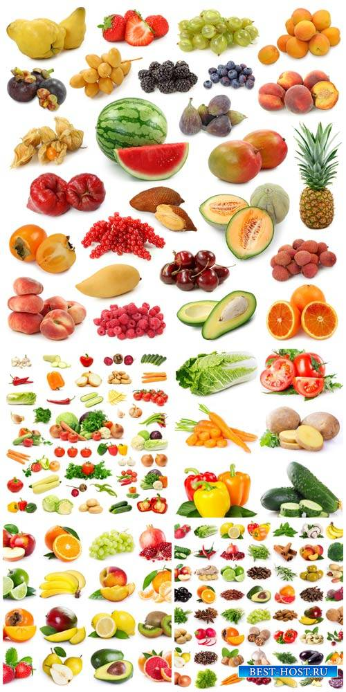 Fruits, vegetables, berries - stock photos